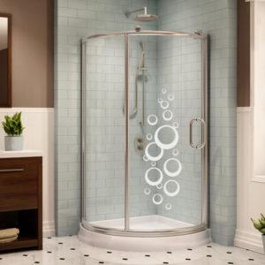 Bubliny - samolepka na sprchový kout