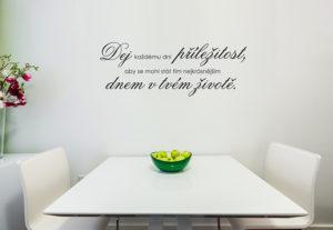 Samolepky na zeď - Dej každému dni příležitost...