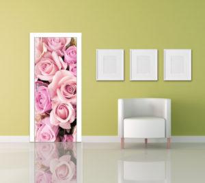 Samolepka na dveře Květy růže